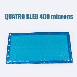 Bâche piscine à bulle quatro 400 bleu classique