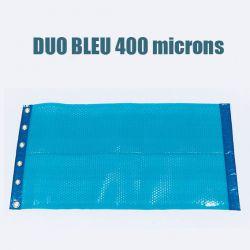 Bâche piscine à bulle duo 400 bleu classique
