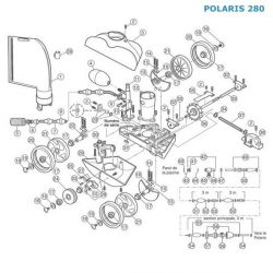 Préfiltre inox sur tuyau Polaris 280