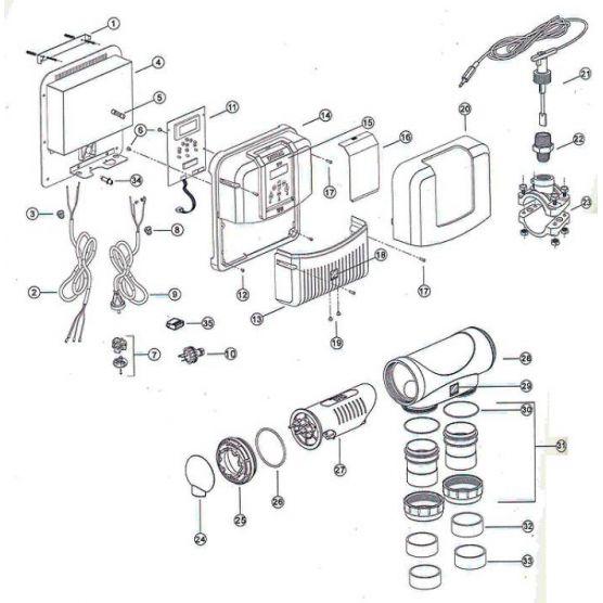 Réducteur PVC DN50 à coller pour Zodiac TRI